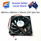 Brushless Case Fan 80mm x 80mm x 10mm 2pin 12V Cooling Fan GDT - Aussie Seller