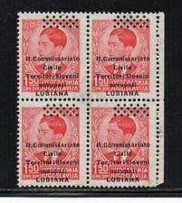 1941 ITALY OCCUPATION OF SLOVENIA SA# 21e, MNH BLOCK OF 4 $530.00