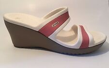 Crocs Women's Shima  Mushroom / Blossom Wedge Sandals - Size 8