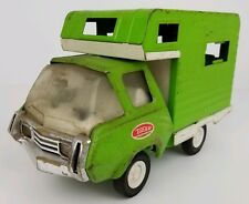 Vintage Tonka Green Pressed Steel RV Camper Truck Toy 9 Inches Long Parts Repair