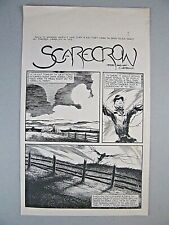 Scarecrow - Complete 5 Page Story - Charles Vess - Original Production Art 1988