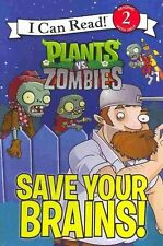 Plants vs. Zombies: Save Your Brains! (I Can Read Book 2)-ExLibrary