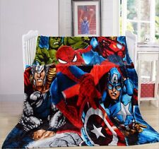 "79""x59"" Super Hero The Avengers Plush Soft Silky Flannel Blanket Throw Bedding"