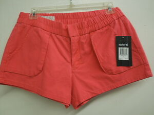 NEW - WOMEN'S HURLEY SHORTS - LOWRIDER CARGO - COLOR: PUNCH  SIZE:  7   $34.00