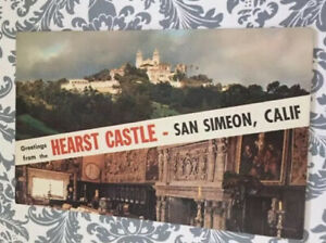 1960 Postmarked Postcard - Greetings From The Hearst Castle, San Simeon, CA