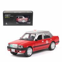 Hong Kong Taxi Toyota Crown 1:32 Die Cast Modellauto Rot Spielzeug Ton & Licht