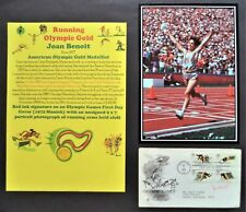 BENOIT JOAN AMERICA MARATHON OLYMPIC GOLD MEDAL 1984 SIGNED FIRST DAY COVER