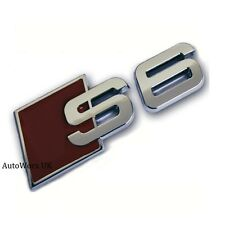 S6 Insignia Emblema Decal Sticker Logo A5 Rs6 Rs S Audi Arranque Tapa Maletero trasero portón trasero