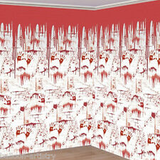 Halloween CHOP SHOP Scene Setter BLOODY GORE WALL Room Roll Decoration Set