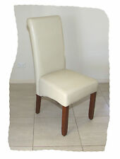 Ava Ivory Faux Leather Dining Chair on Chestnut legs - BRAND NEW