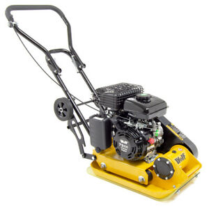 Wolf 8200N Petrol Compactor Plate with Wheels & Paving Pad 79cc Wacker Plate