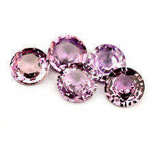 Certified Natural Unheated 2.04ct Matching Round Pink Sapphires Madagascar Gems