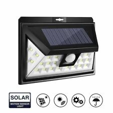 Solar Power Wireless Rechargeble Battery LED Security Wall Spot Light Sensor NEW