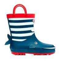Chipmunks Boys Moby Whale Wellingtons /wellies Navy Blue boots uk 9 eu 27 NEW
