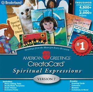American Greetings Creatacard Spiritual Expressions 7 (CD-ROM, 2002)(KB) NEW