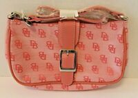 NWOT Dooney and Bourke Signature Pink Shoulder Bag Purse Leather Trim