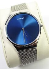 Men's BERING Blue & Silver Colour Sapphire Crystal Water Resistant Watch 2101935