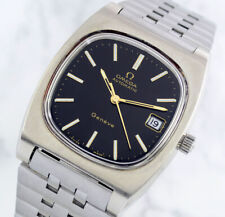 VINTAGE OMEGA GENEVE AUTO CAL1012 DATE BLACK DIAL MEN'S WATCH