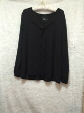 ASOS Womens US 12Sheer Black Blouse Long Sleeve Pre-owned