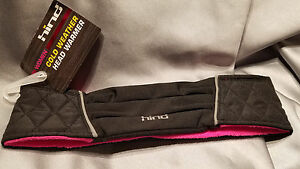 Hind Women's Cold Weather Quilted Head Warmer, Wicking, Black & Pink SHIPS FREE!