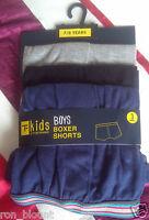 BOYS COTTON MULTI (3)  PACK & COLOUR BOXER SHORTS AGE 5/6 7/8 9/10 11/12
