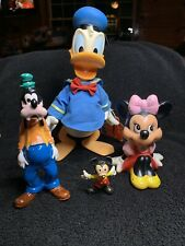 1960s/1970s Walt Disney Productions Toy Figurine Lot Mickey/Minnie Mouse/Donald/