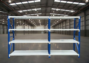 2Mx3.5Mx0.6M  Metal Warehouse Racking Garage Shelving 1700kg Storage Shelves