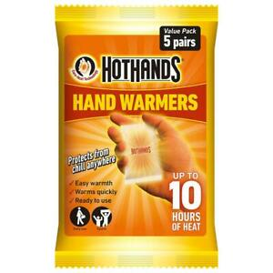 Hot Hands Hand Warmers Heat Warming Outdoor Work Camping - 5 Pairs