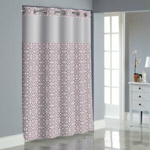 NEW Hookless flex on lilac medallion Shower Curtain with Peva Liner purple