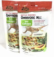 New listing 2 Bags Zilla 4 Oz Omnivore Reptile Food Calcium Munchie Nutritious Variety C1-18