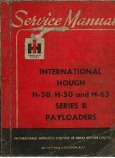INTERNATIONAL HOUGH H30, H50 & H65 SERIES B PAYLOADER LOADER SERVICE MANUAL