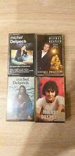 Vintage Lot 4 K7 Cassette audio MICHEL DELPECH