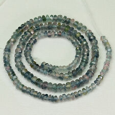 3MM-4MM Watermelon blue/pink Tourmaline Faceted Rondelle Bead 14.5 inch strand