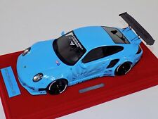 1/18 AB Models Porsche 911 Liberty walk LB Performance Baby Blue Decals 02A
