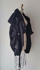 Junya Watanabe Black Ruched & Elastic Cording Detailed Wool Jacket Sz S