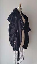 Junya Watanabe Black Ruched & Elastic Cording Detailed Wool Jacket Sz S