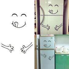 1x Stickers Mural Sourit Visage Autocollant Décoration Réfrigérateur Cuisine NF