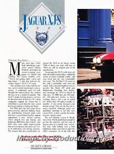 1989 Jaguar XJS XJ-S Coupe Original Car Review Print Article J688
