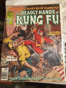 Deadly Hands of Kung Fu #33 Final Issue Shang Chi Daughters Of The Dragon Marvel