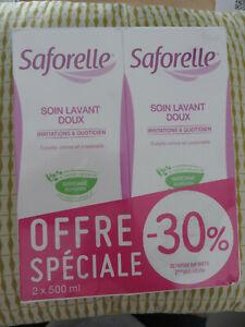 SAFORELLE 2 X 500ml Soin lavant doux irritations toilette intime corps L152 20