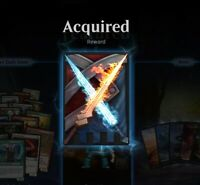 Exclusive Sword of Fire and Ice Sleeves FNM MTG Arena Code Email Delivery