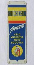 Tôle publicitaire Pneus Vélo, Moto & Scooter HUTCHINSON - MICH - déco garage