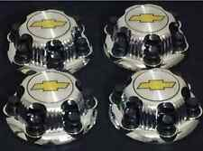 "6 Lugs Chevy 2000 2010 1500 Truck Van 16"" 17"" Chrome wheel center Cap set of 4pc"