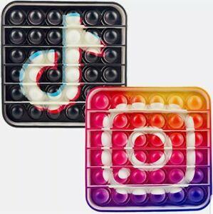 2pk Tik Tok Instagram Push it Bubble Pop Fidget Sensory Toy ADHD Stress Reliever