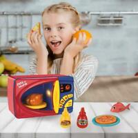 Pretend Electric Kitchen Toys Microwave Oven Kids Children Playset UK