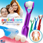 4-PK  Autisticare  The Only Child-Safe 3-Sided Toothbrush  Autistic Aspergers
