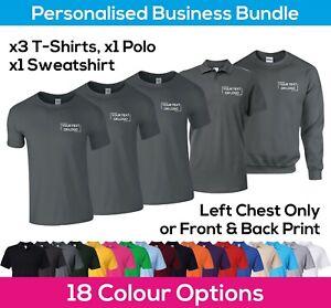 Personalised Printed Workwear Bundle - Business Package T-Shirts Polo Sweatshirt