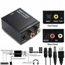 Digital to Analog Converter L/R Audio Adapter w/ Fiber Cable RCA Out Optical US