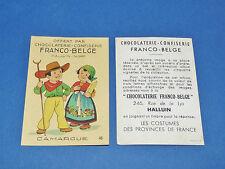 CHROMO CHOCOLATERIE FRANCO-BELGE HALLUIN NORD COSTUMES FRANCE CAMARGUE