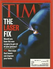 OCTOBER 11, 1999 TIME MAGAZINE LASER LASEX EYE SURGERY HEALTH MEDICINE CORECTIVE
